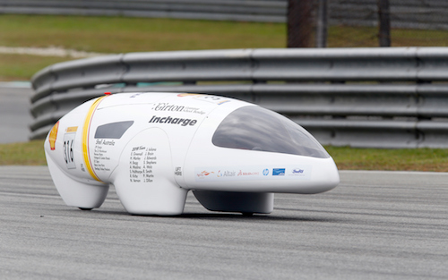 Shell Girton Car on Track